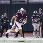 SCORING JAUNT - Pearland junior RB Dominic Serna (6) is on his way to a 75-yard scoring jaunt against Alief Hastings. Serna finished the game with 121 yards rushing on nine carries. Serna scored just before the first half ended giving the Oilers a 30-0 lead. Pearland went on to a 37-16 Homecoming victory. Pearland (6-1) will travel to Freedom Field to face the Shadow Creek Sharks in a District 23-6A showdown on Friday, November 13 at 7:00 p.m. (Photo by Lloyd Hendricks)
