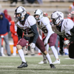 PEARLAND DEFENSE -- The Pearland defense has had an exceptional year which has helped the offense. The Oilers are now 5-1 overall after beating Alief Taylor 26-7 last week. Junior DB Remington Roberts (32), junior LB Andrew Bubrig (26), and senior DL Christopher Salinas (94) gave a great effort against the Lions. The Oilers will host Alief Hastings on Friday, November 6 at 7:00 p.m. at The Rig. (Photo by Lloyd Hendricks)